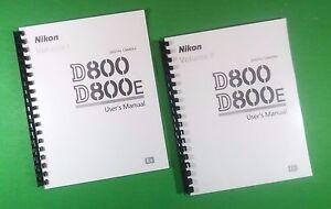 laser printed nikon d800 800e camera 472 page owners manual guide ebay rh ebay com nikon d800e user manual nikon d800e user manual