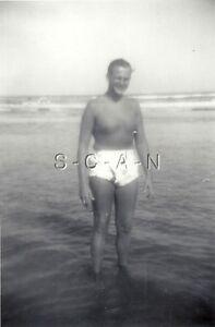 Original Vintage RP- Semi Nude- Gay Interest- Beach- Fancy
