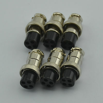 6PCS,Cobra Midland CB Radio 4 pin MIC Plug Female Connector