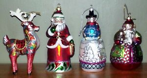 2012-Jim-Shore-Glass-Holiday-6-034-Glass-Christmas-Tree-Ornament-4-styles-Collector