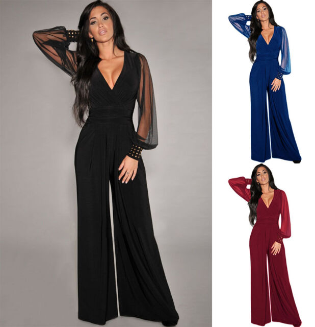 online store d4b63 962f0 tuta elegante pantaloni lungo jumpsuit vestito abito cerimonia da donna 6650