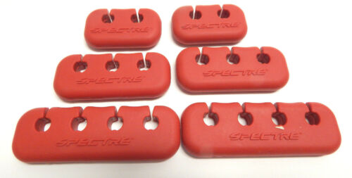 SPECTRE 46023 SPARK PLUG WIRE HOLDER SEPARATOR Red Pure Silicone High Temp 8-9mm