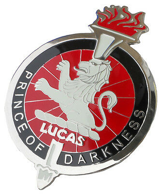JOSEPH LUCAS PRINCE OF DARKNESS CAR GRILLE BADGE