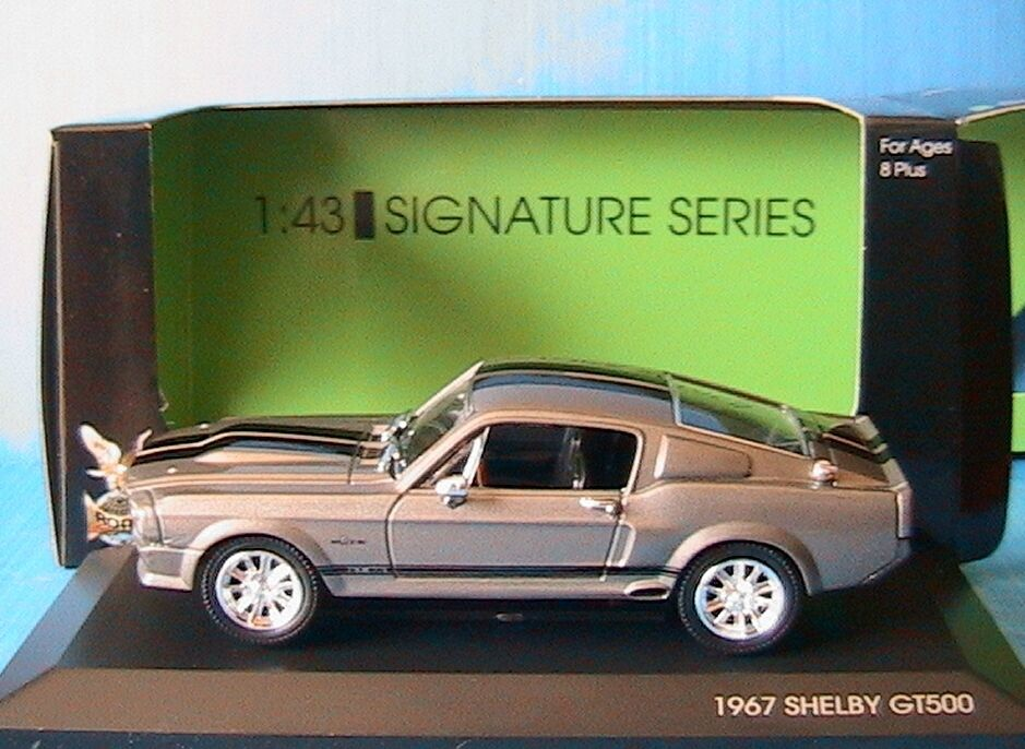 FORD MUSTANG SHELBY GT500 ELEANOR 1967 YATMING 1 43 SIGNATURE SERIE 43202 grisE