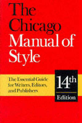 The Chicago Manual of Style: The Essential Guide for Writers-ExLibrary