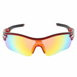 RockBros Polarised Cycling Glasses Bicycle Outdoor Sport Sunglasses Goggles Red