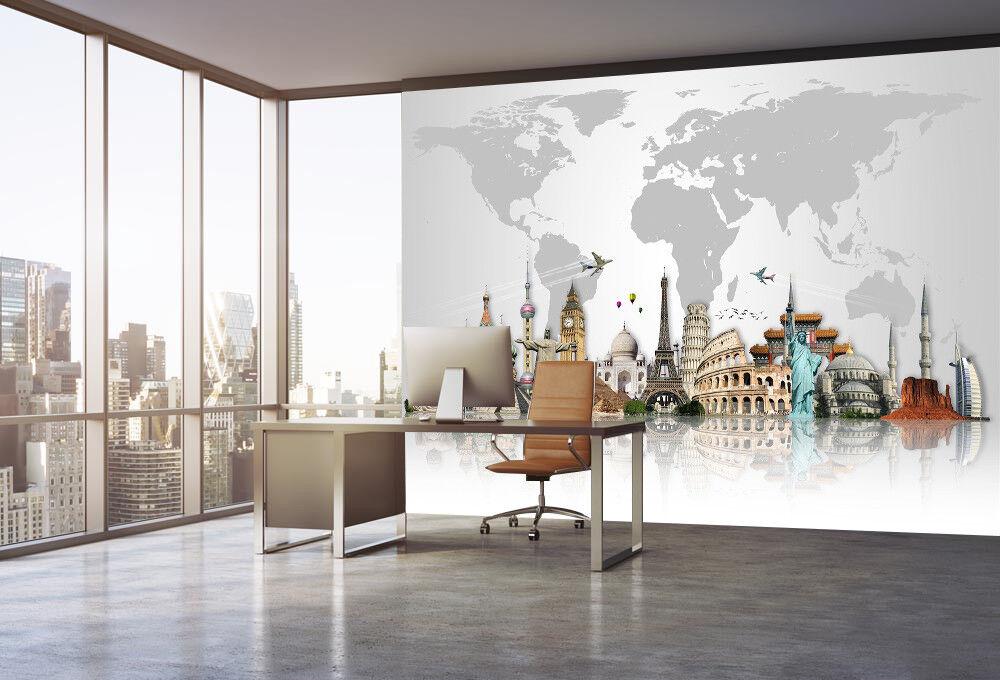 3D Modern City 7052 Wallpaper Mural Wall Print Wall Wallpaper Murals US Lemon