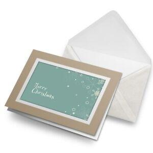 Greetings-Card-Biege-Merry-Christmas-Snowflake-Festive-14667