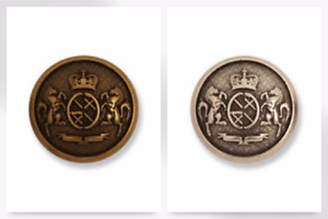 G4354-M Impex Military Metal Crest Buttons