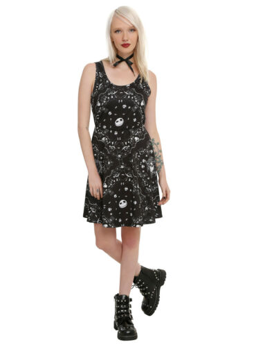 61c7134e800 ... Disney Nightmare Before Christmas Icons Skater Dress Hot Topic Size M  Medium