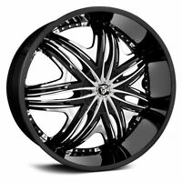 24 Diablo Wheels Morpheus Black Rim Tires Fit Lexus Rx 330 Escalade Range Rover
