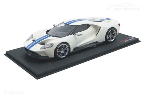 TopSpeed 1:18 white // lightning blue TS0093 Ford GT 1 of 999