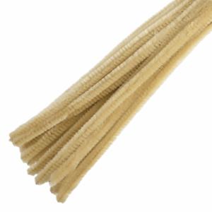15 X 30cmx12mm Beige Recto chenilla tallos las fibras sintéticas Limpiador de Pipa Craft