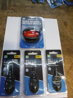 Drennan  Method Feeder /& Mould large  and x3 feeders preston quick change beads