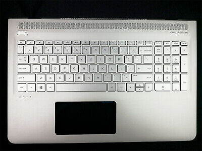 NEW HP ENVY 15-AS 15AS Silver Palmrest Backlit Keyboard 857799-001 6070B1018801