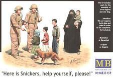 Aquí es Snickers... (U.S. soldados y civiles en Iraq) 1/35 Masterbox