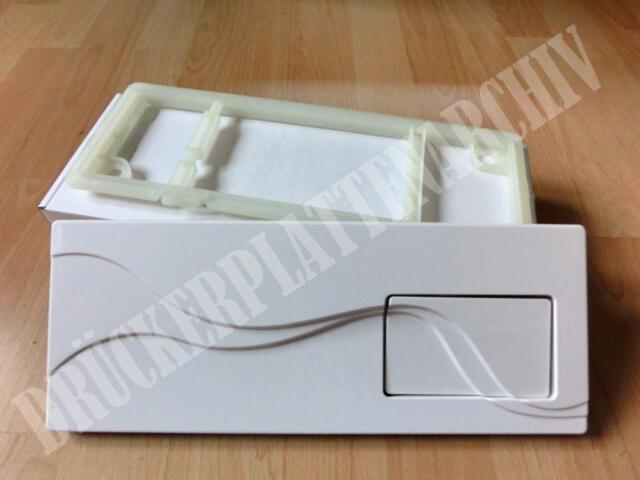 Sanit Urinal-Abdeckplatte handbetätigt weiß Drückerplatte Betätigungsplatte
