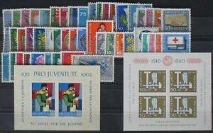 s502-Schweiz-postfrisches-Lot-1960-1963-KW-ca-100-Euro