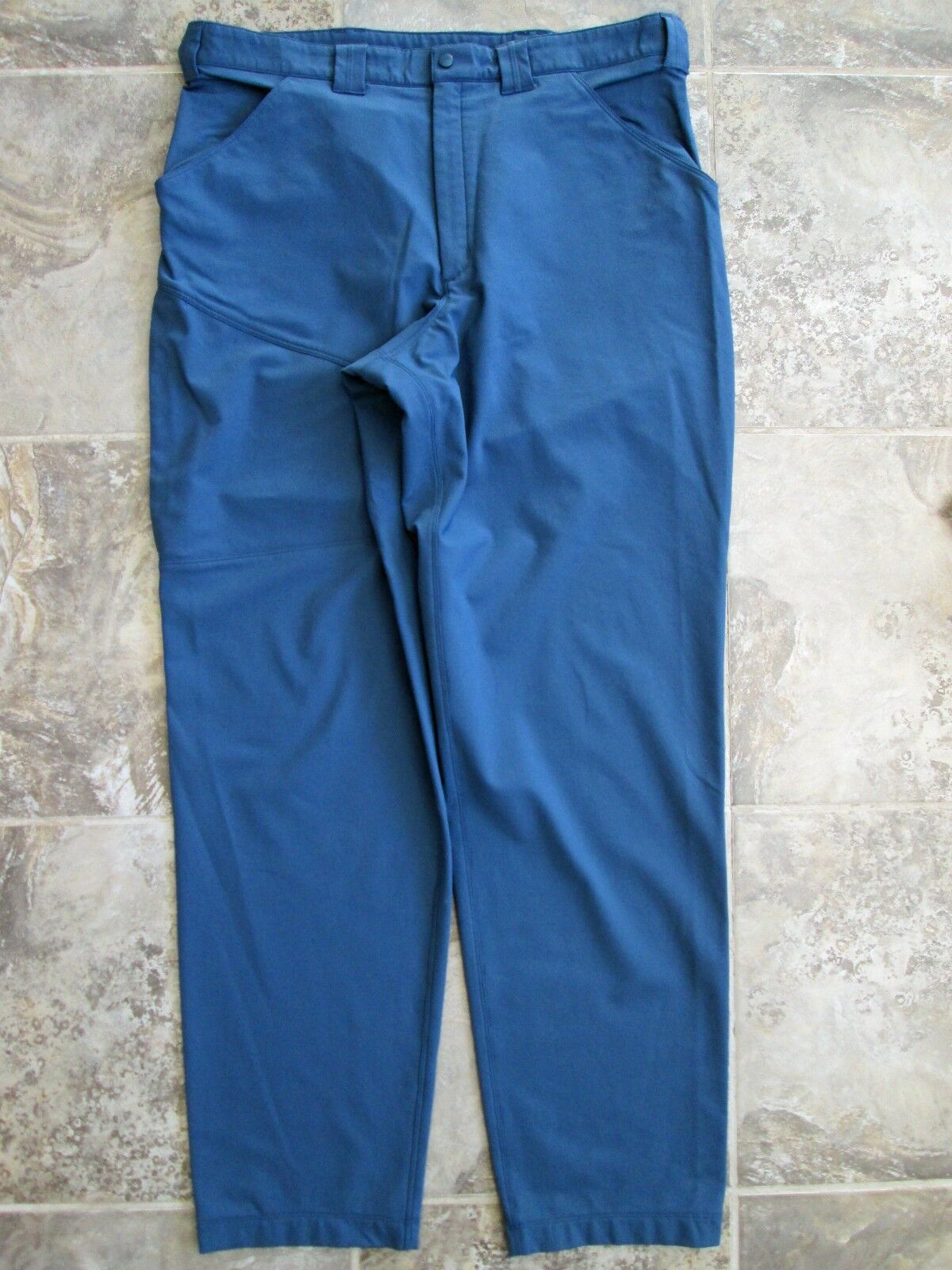 Arcteryx Men's Large Pants Sport Climb Hike Outdoor bluee Nylon Polyester Stretch