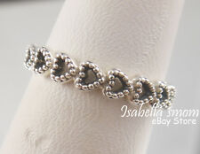 item 2 linked love genuine pandora silver valentines hearts ring band 6 52 new w box linked love genuine pandora silver valentines hearts ring band 6