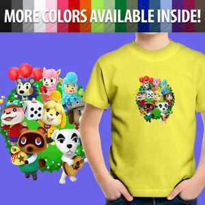 Animal-Crossing-Isabelle-K-K-Slider-Kawaii-Group-Toddler-Kids-Tee-Youth-T-Shirt