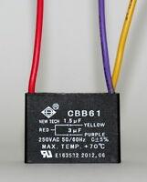 Ceiling Fan Capacitor Cbb61 1.5uf+3uf 3 Wire