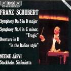 Sinfonien 3+4 von Neeme Järvi,Stockholm Sinfonietta (1996)