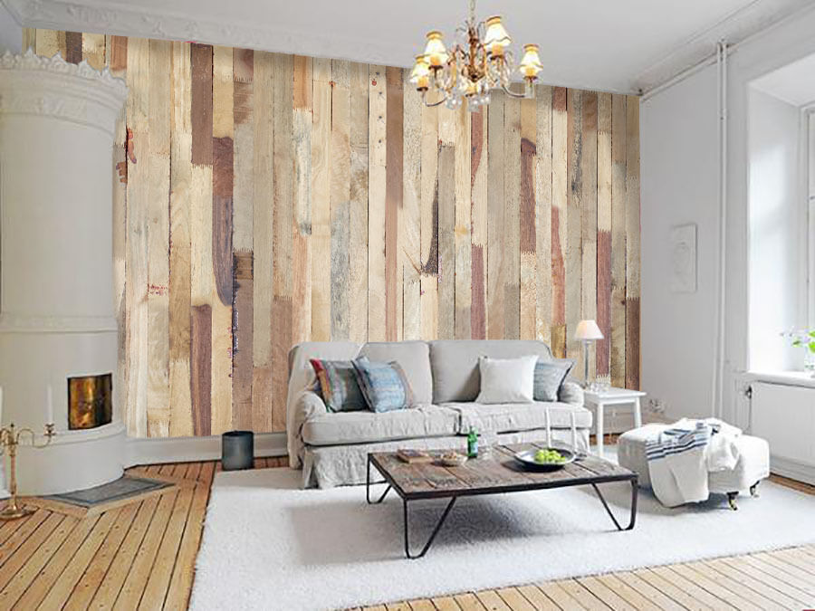 3D Retro Wood Slats 720 Wall Paper Wall Print Decal Wall Deco Wall Indoor Murals