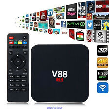 V88 Android 6.0 Quad Core 8GB TV Caja 4K 16.1 WiFi Media Player HD