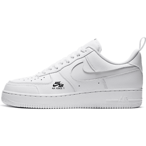 Details zu Nike Air Force 1 LV8 Utility Reflective Swoosh White Black  Sneakers CV3039-100