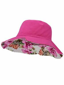 0b94eda9 C.C Women's 100% Cotton Crushable Bucket Ponytail Messy Bun Sun ...