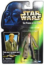 Star Wars POTF Han Solo in Endor Gear with Blaster Pistol MOSC