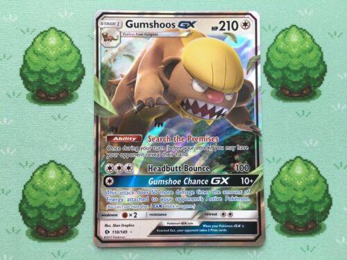 Pokemon 110//149 Gumshoos GX Sun and Moon Half Art