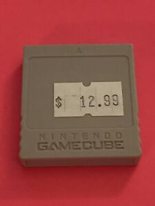 NINTENDO GAME CUBE 🔥💯 WORKING🔥 OEM ANIMAL CROSSING MEMORY CARD BLACK 59 BLOCK