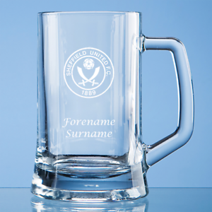 Avoir Un Esprit De Recherche Sheffield United F.c - Personalised Large Plain Straight Sided Tankard (crest)