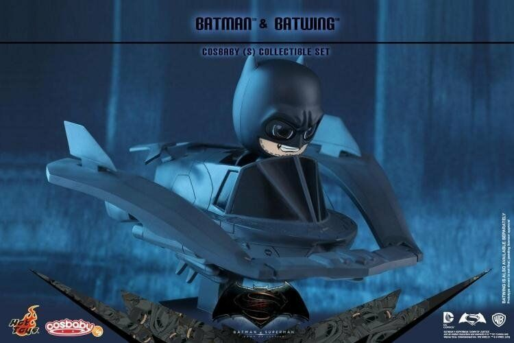 HOT TOYS COSB274 COSBABY BATMAN DAWN v SUPERMAN: DAWN BATMAN OF JUSTICE BATMAN & BATWING SET c8eafd