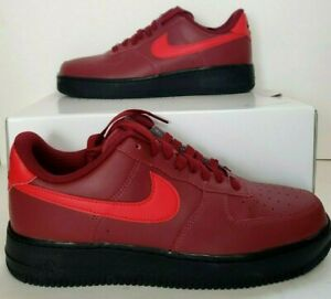 Details about NEW MEN'S NIKE AIR FORCE 1 LOW 07 AQ3774 992 BLACK MAROON SNEAKERS AF1 SZ 9.5 iD