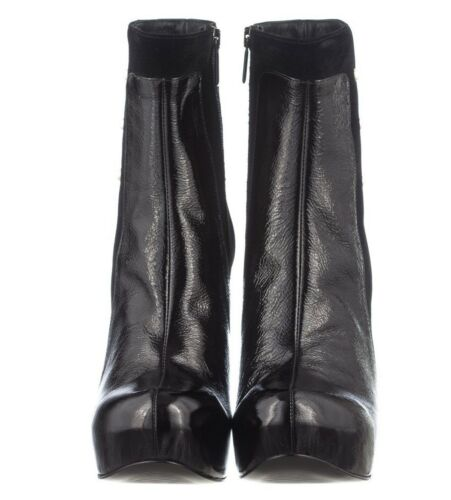 Italy 3 Stivali Mori Bottines In Made Noires Stiefel Velours 43 wFYqqzt5