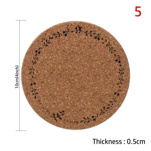 Holder Non-slip Anti-hot Heat Pad Wooden Cup Mat Cork Coasters Heat Resistant