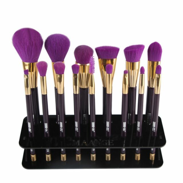 Professional 15 Hole Makeup Brush Drying Shelf Storage Display Stand Holder、New