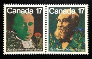 Canada-894-895a-MNH-Canadian-Botanists-Pair-of-Stamps-1981