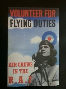 FLYING-DUTIES-BOOKLET-WARTIME-R-A-F-RECRUITMENT-HISTORY-WORLD-WAR-II