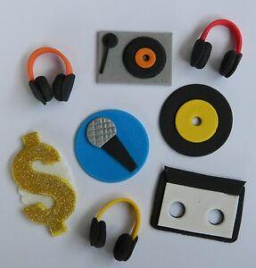 Image Is Loading 12 Edible Music Hip Hop Dj Cupcake 80
