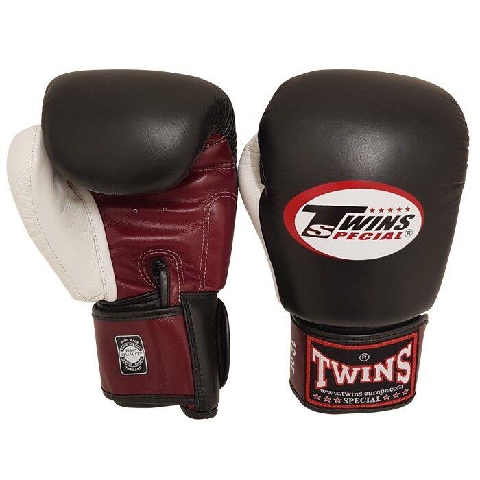 Twins Boxhandschuh  BGVL 4 rot-schwarz-Weiß rot-schwarz-Weiß rot-schwarz-Weiß  Gr. 10-16 Oz. Echt Leder 2270f1