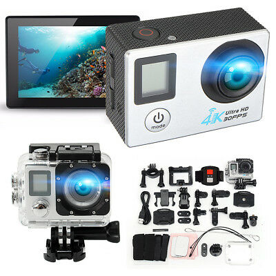 PRO CAM WIFI 4K 16MP DOPPIO SCREEN LCD SPORT ACTION CAMERA VIDEOCAMERA SUBACQUEA