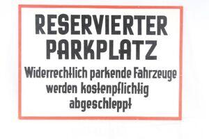 Old Shield Berdinaks Reserved Parking Spot Kostenpflichtig Abgeschleppt
