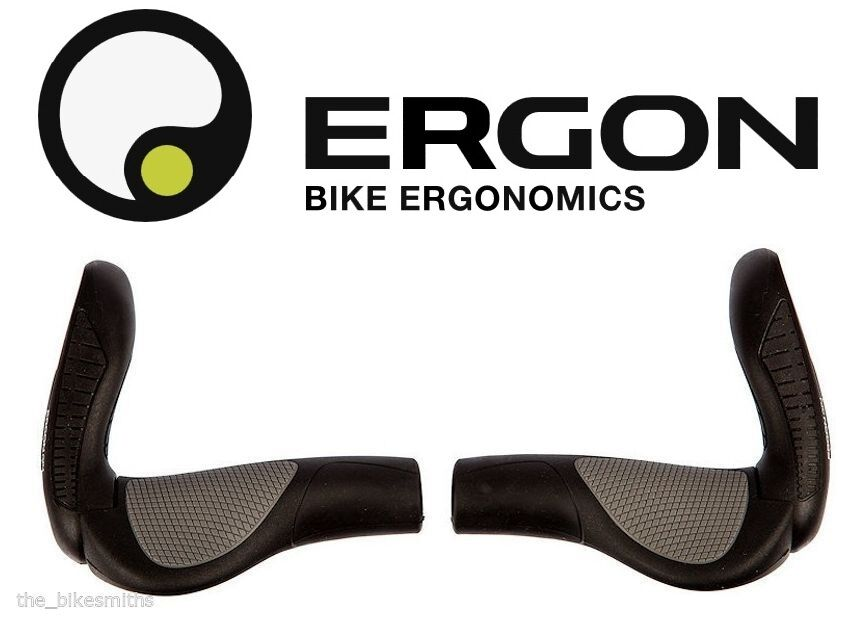 Ergon GP4 Ergo L or S Large  Small Grips Adjustable Bar End Mountain Hybrid Bike