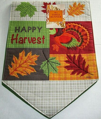 """THANKSGIVING//FALL  TABLE RUNNER ASSORTMENT #1 13/"""" X 36/"""" {Your choice}"""