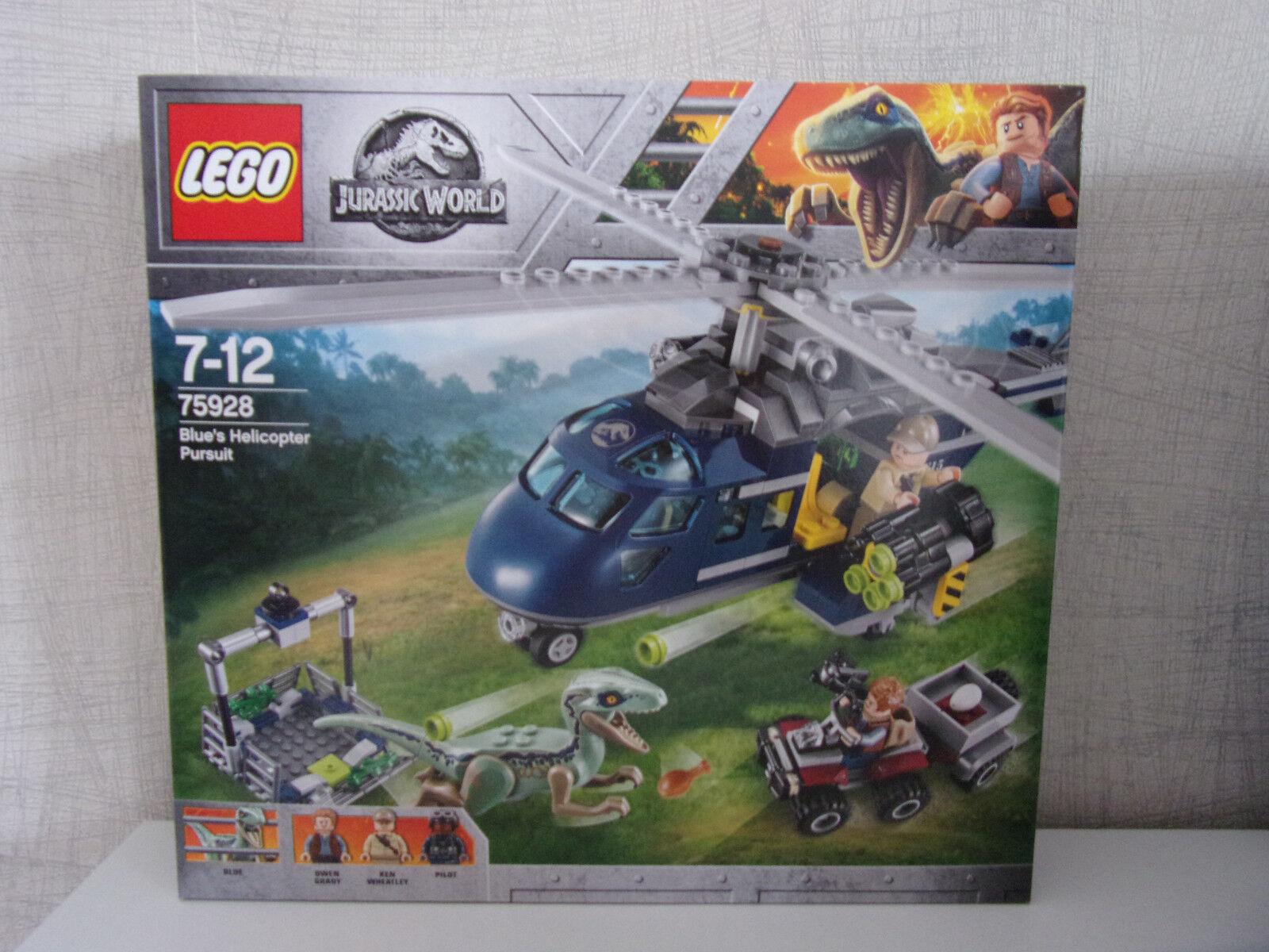 Lego Jurassic World 75928 bleu's Helicopter Pursuit-NOUVEAU & NEUF dans sa boîte