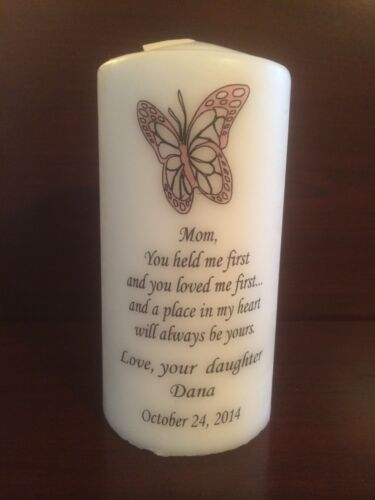"""Marriage MOTHER Candle 6/"""" Personalized MOM Custom Wedding Family Unity"""
